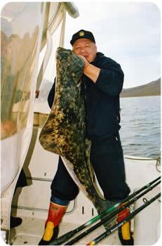 Морская рыбалка на Трофейного палтуса